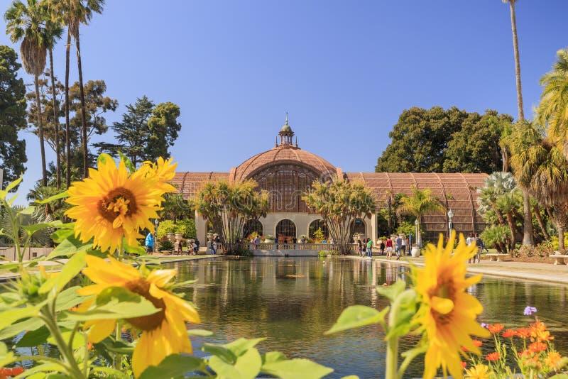 San Diego Balboa Park Botanical Building em San Diego fotos de stock royalty free