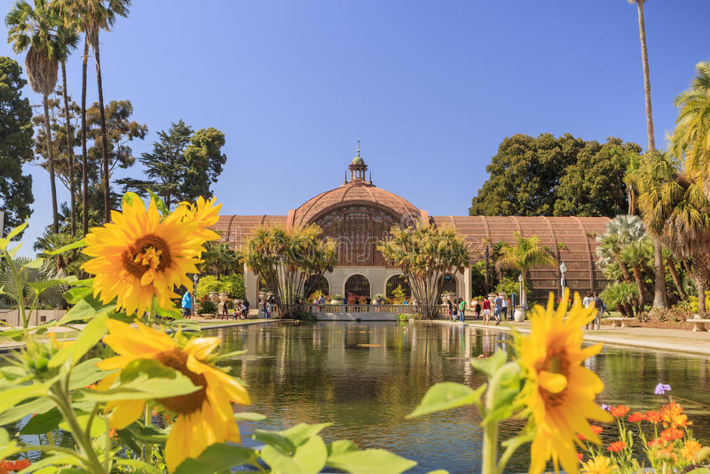 San Diego Balboa Park Botanical Building at San Diego royalty free stock photos