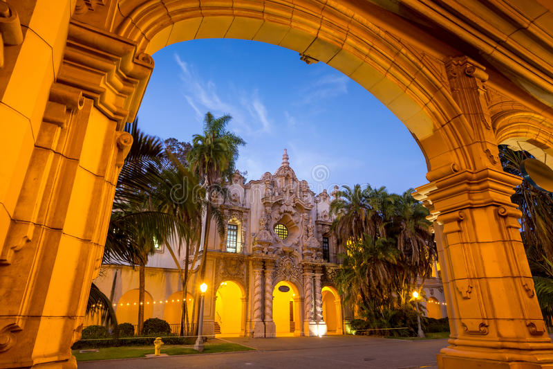 San Diego Balboa parkerar i San Diego California arkivbild