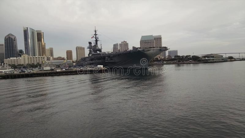 San Diego Battleship foto de archivo libre de regalías
