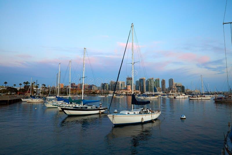 San Diego Bay e skyline fotografia de stock royalty free