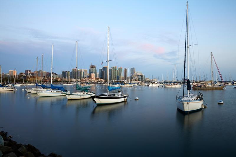 San Diego Bay and skyline royalty free stock photography