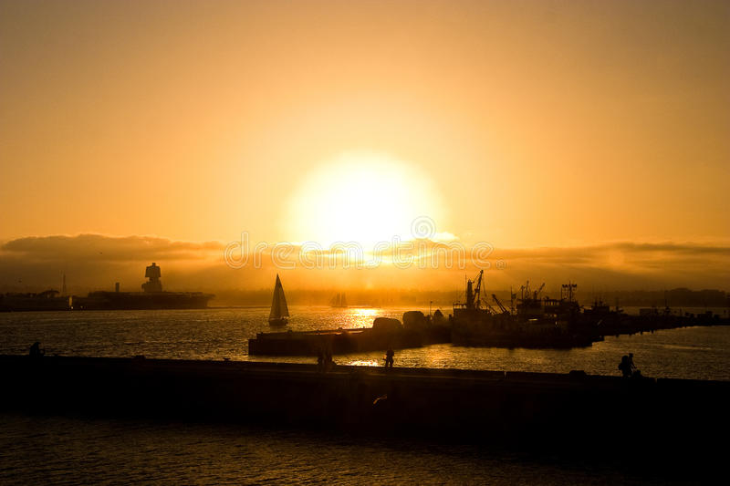 Download San Diego Boats At Sunset Stock Photo - Image: 12949520