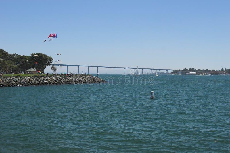 San Diego - Brücke stockbild