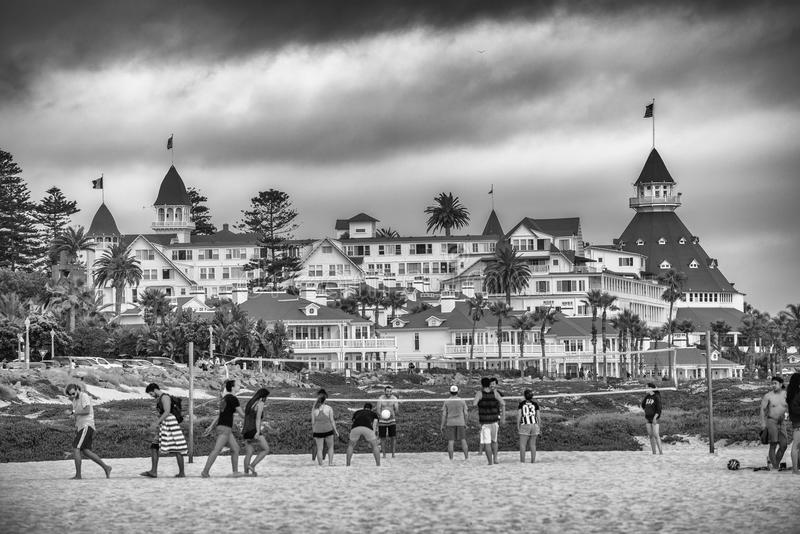 SAN DIEGO, CA - 30 DE JULIO DE 2017: El del Coronado del hotel es un histórico fotografía de archivo