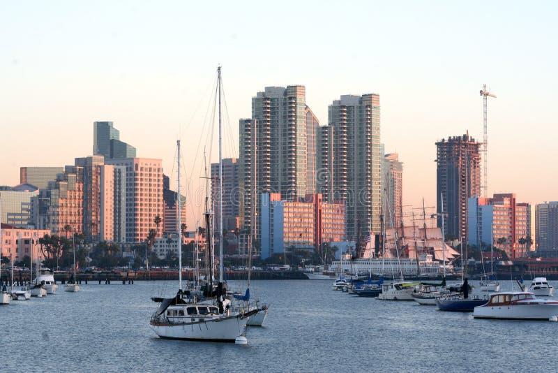 San Diego ca rana linia horyzontu zdjęcie stock