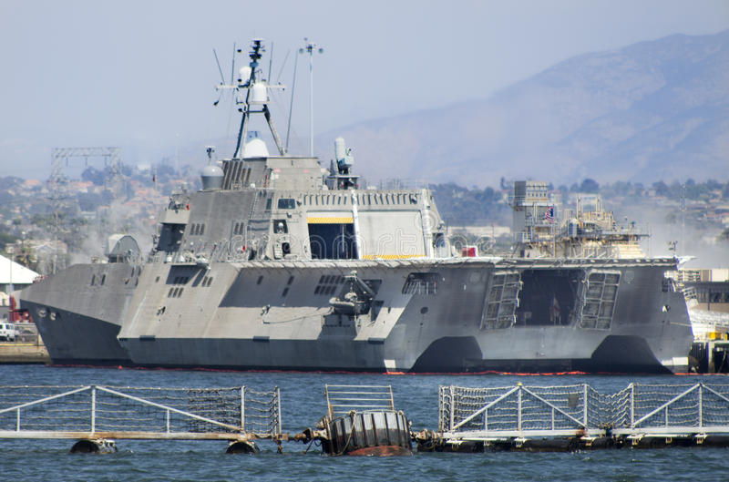 SAN DIEGO, CA - USS Indendence LCS-2 royalty free stock photography