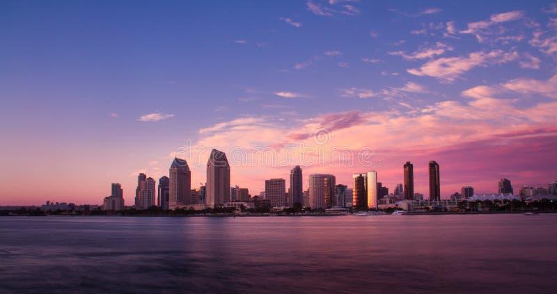 San Diego Califórnia no por do sol fotos de stock royalty free