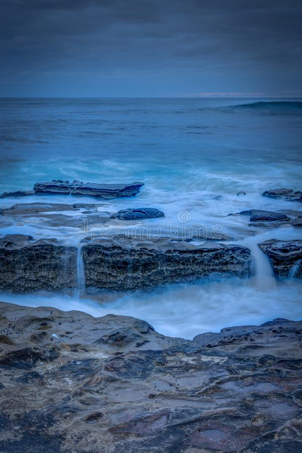 San Diego California Coastline na mola fotos de stock royalty free