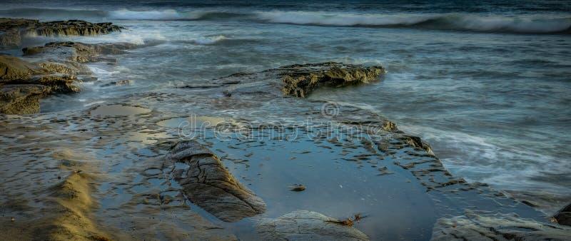 San Diego California Coastline na mola fotografia de stock
