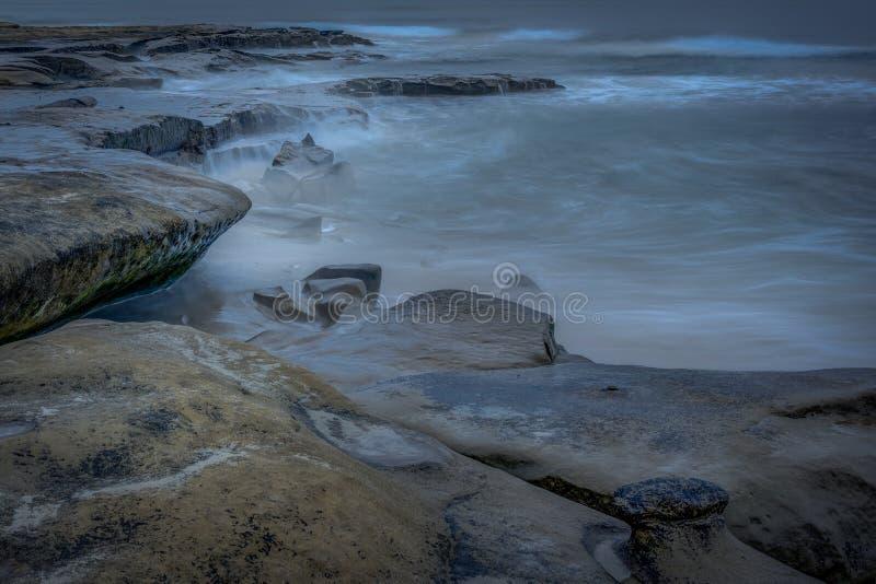 San Diego California Coastline na mola foto de stock
