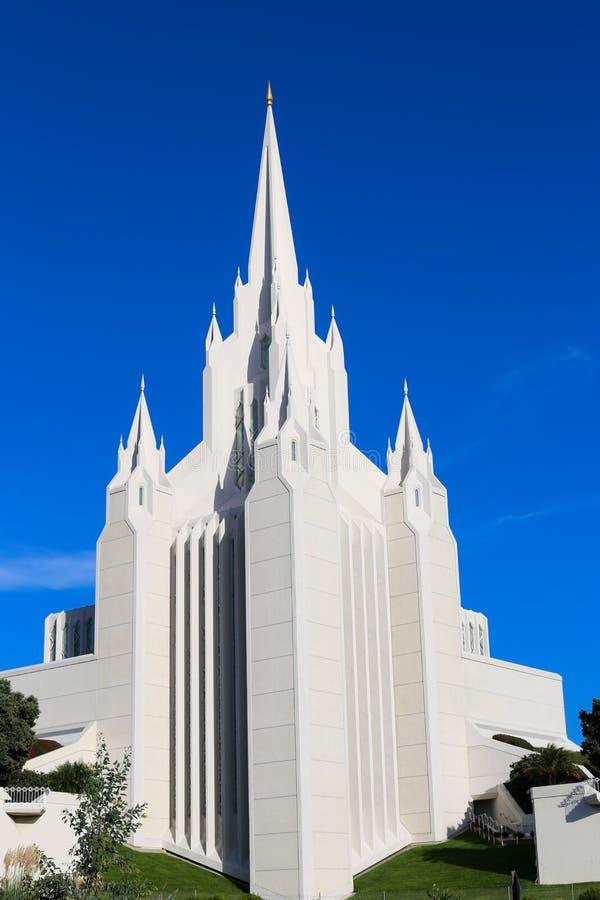 San Diego California LDS u. x28; Mormon& x29; Tempel lizenzfreie stockfotografie