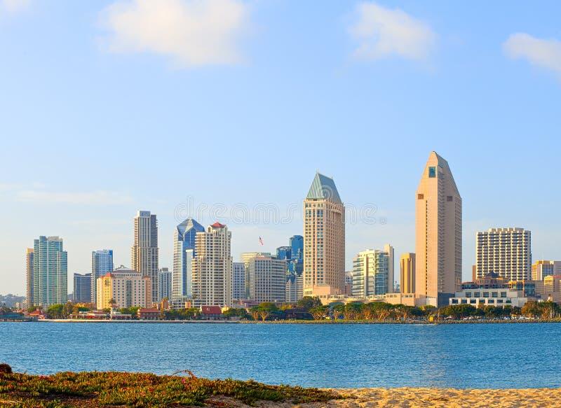San Diego California, orizzonte della città immagini stock