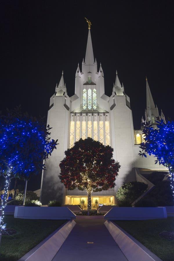 San Diego California Temple eine Kirche von Jesus Christ und von neueren Tagesheiligen in La Jolla lizenzfreie stockbilder