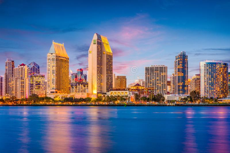 San Diego, California, USA Skyline stock photos