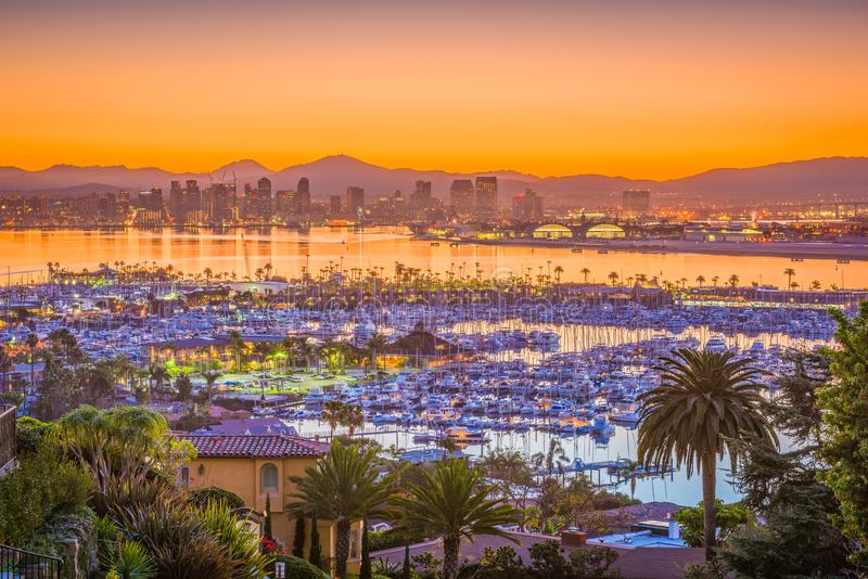 San Diego, California, USA Skyline stock photography