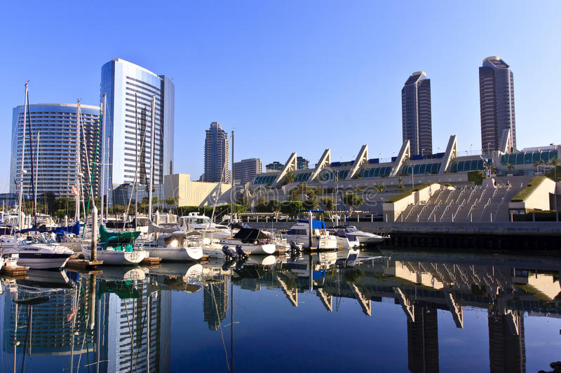 San Diego City Skyline royalty free stock images