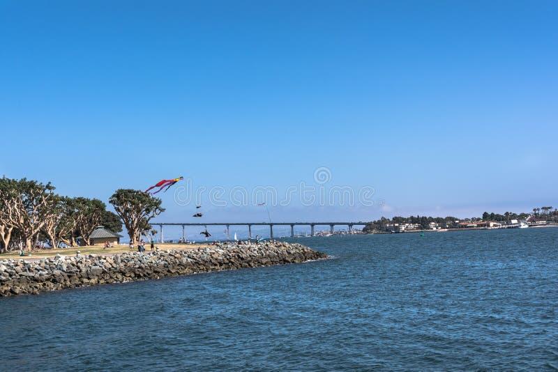 San Diego Coronado Bridge, California royalty free stock photo
