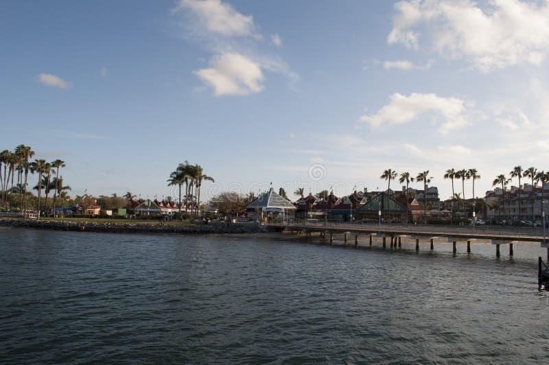 San Diego Coronado Ferry Dock lizenzfreies stockbild