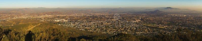 San Diego County Panoramic Landscape von den Berg Cowles-Auftrag-Spuren lizenzfreies stockfoto
