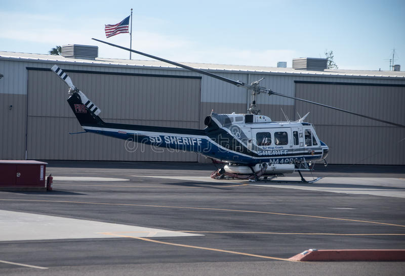 San Diego County Sheriff Air Support lizenzfreie stockfotos