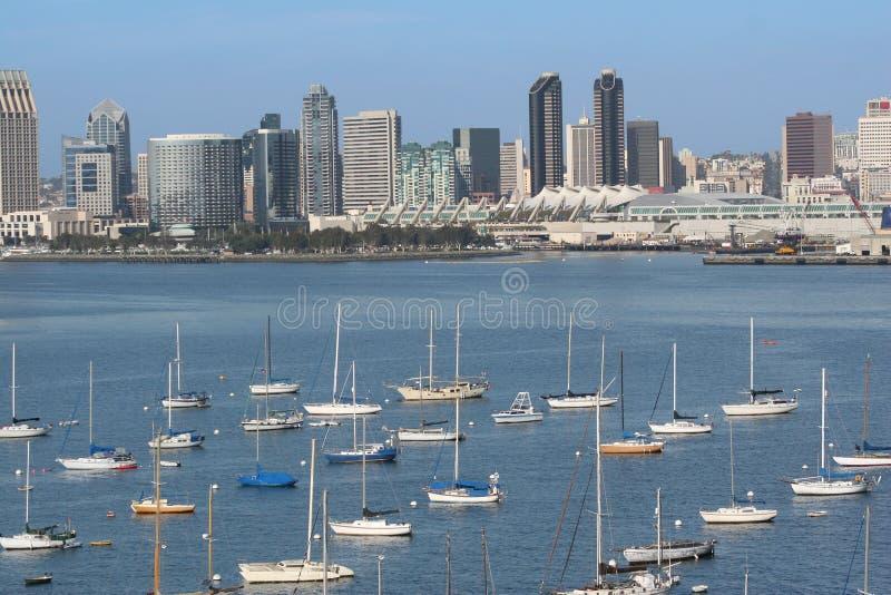 San Diego de stad in en Haven royalty-vrije stock afbeelding