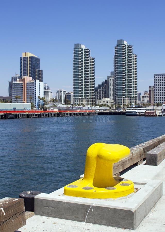 San Diego du centre du pilier de port de Broadway photo libre de droits