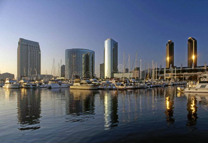 San Diego, Embarcadero Marina, California. Embarcadero Marina harbor in San Diego, California royalty free stock photography