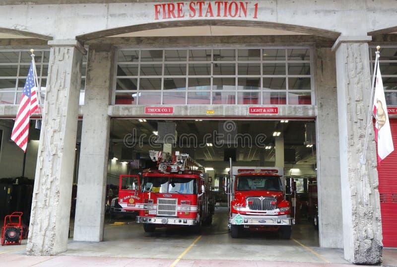 San Diego Fire-Rescue Department Fire Station 1 em San Diego, Califórnia imagem de stock royalty free