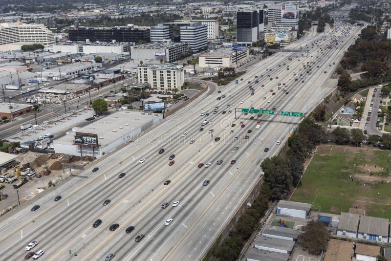 San Diego Freeway Aerial royaltyfria bilder