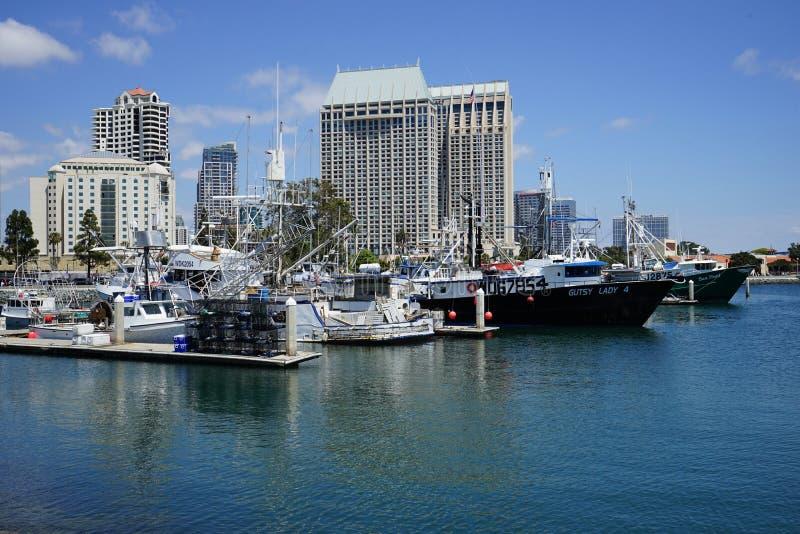 San Diego-Hafen und -Stadtbild lizenzfreies stockbild