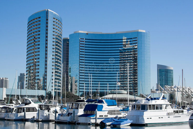 San Diego hamn royaltyfri fotografi
