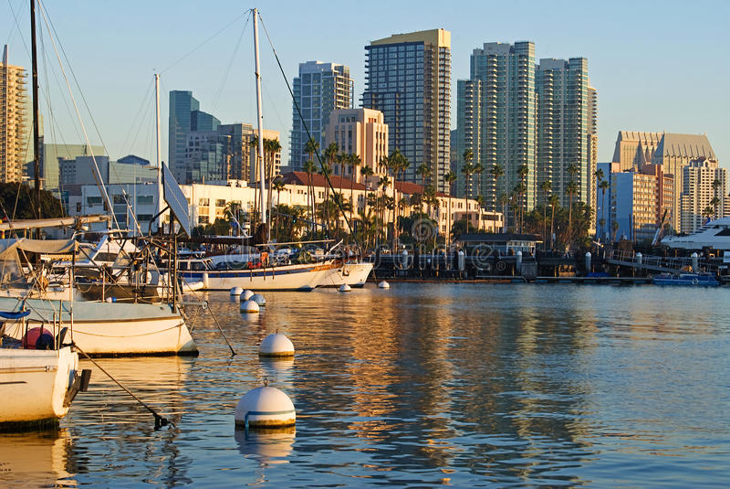 San Diego harbor royalty free stock photo