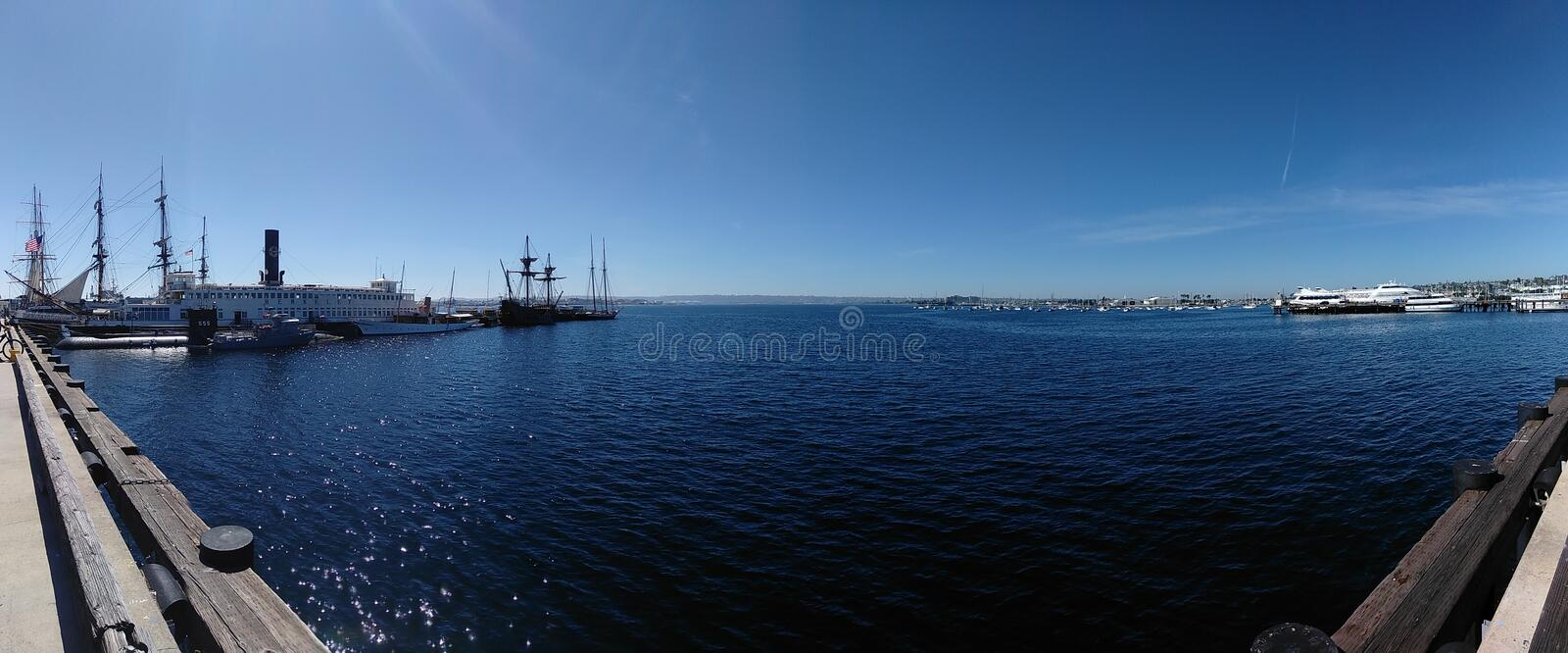 San Diego Harbor, San Diego California images libres de droits