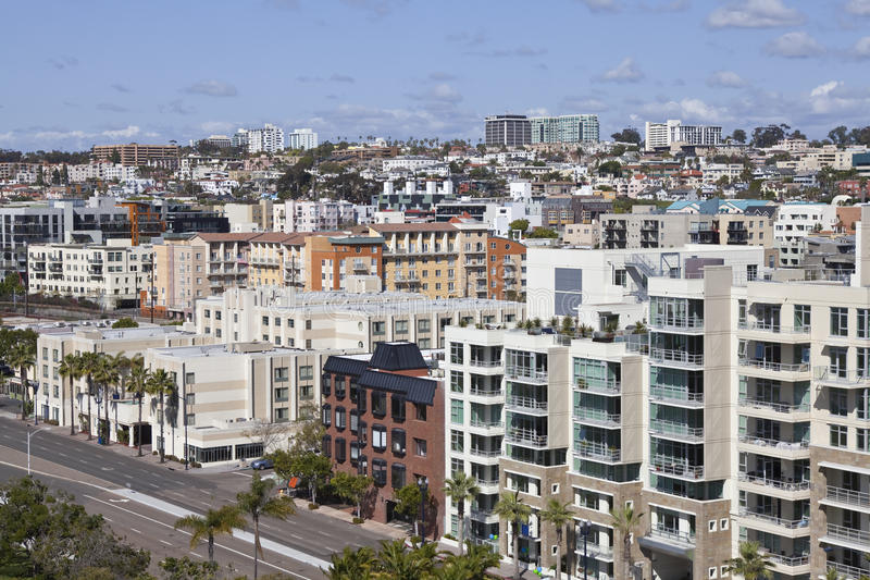 San Diego Hillside royalty free stock photography