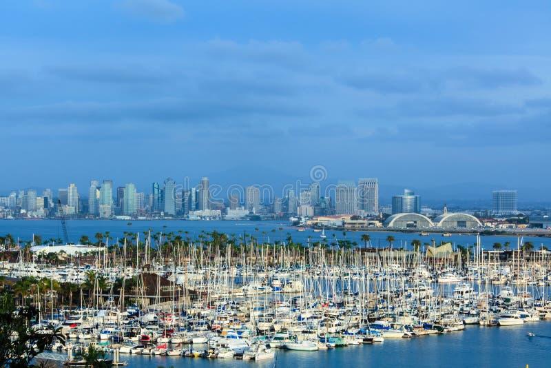 San Diego horisont royaltyfria bilder