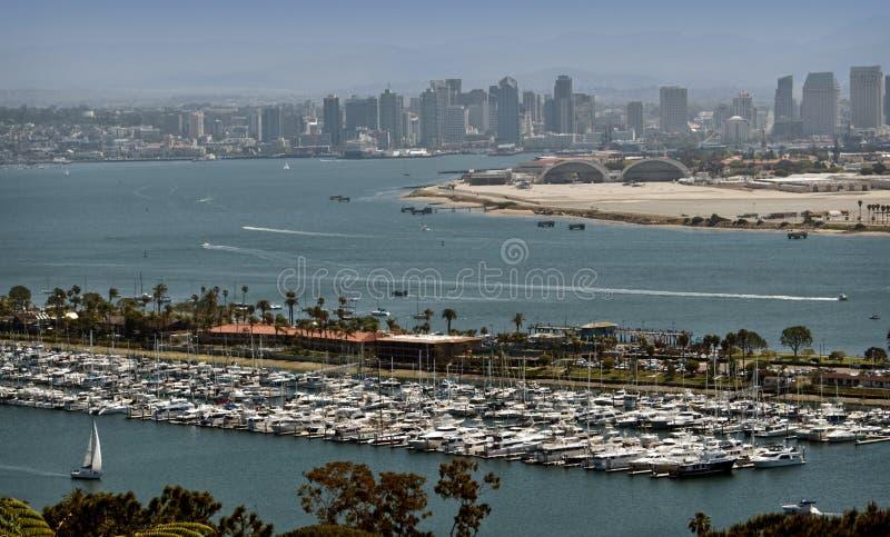 San Diego, horizon et marina, la Californie photographie stock