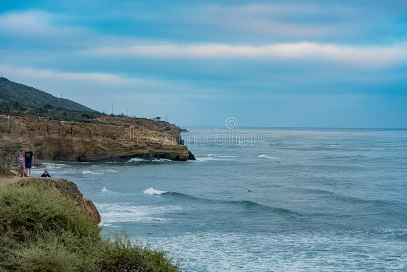 The beautiful Sunset Cliffs Natural Park stock image
