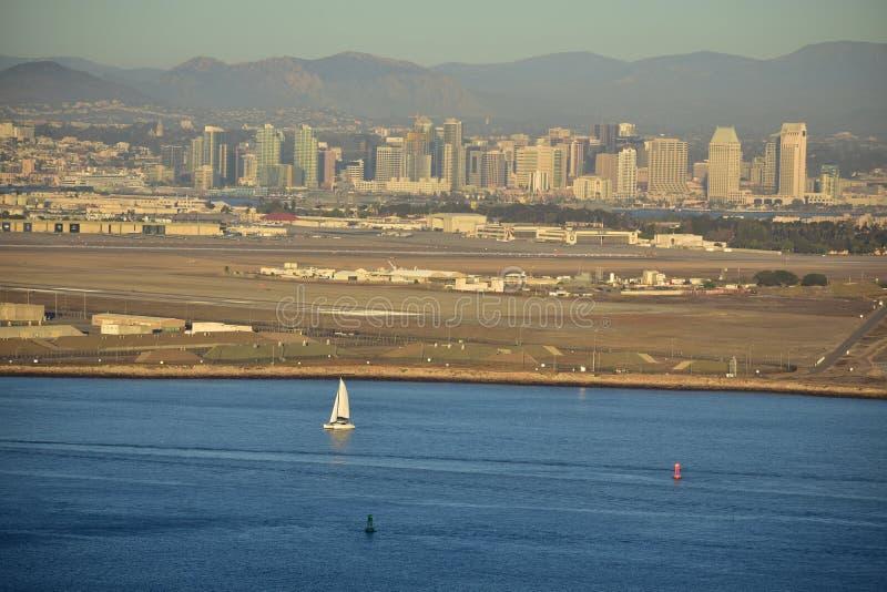 San Diego, Kalifornia Grudzień 04, 2016: - usa - Linia horyzontu widok o obrazy royalty free