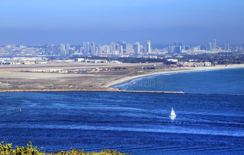 San Diego Kalifornien från Cabrillo den nationella monumentet arkivfoto