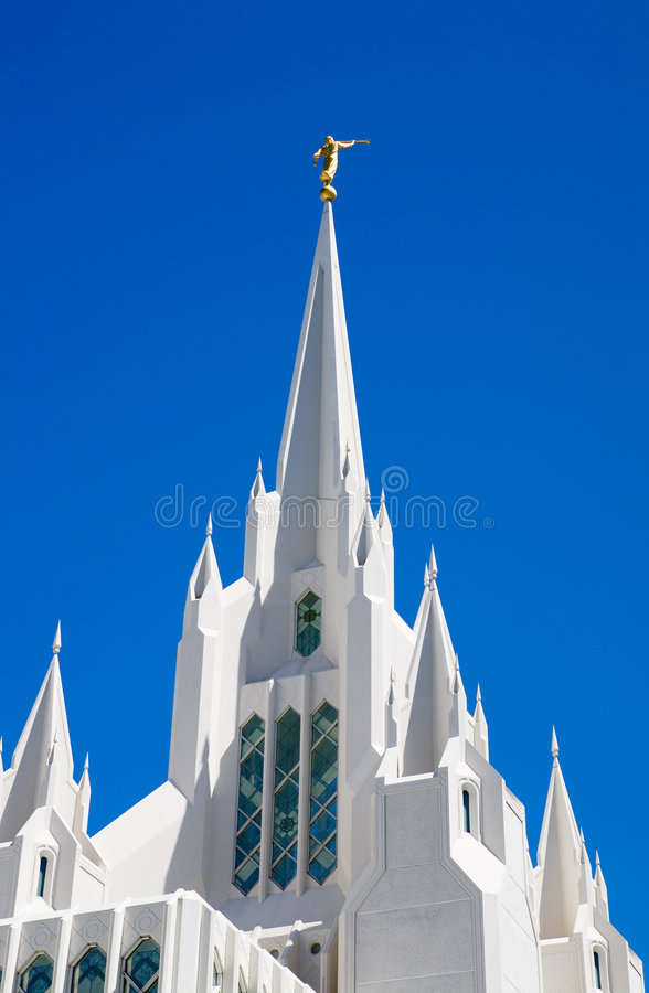 San Diego LDS Temple royalty free stock images