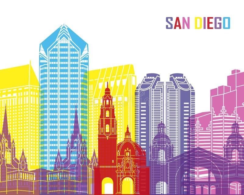 San Diego linii horyzontu wystrzał ilustracja wektor