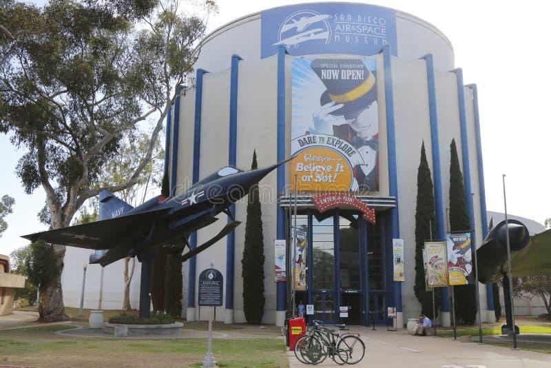 San Diego Lotniczy i Astronautyczny muzeum lokalizować przy Ford budynkiem przy balboa parkiem w San Diego fotografia royalty free