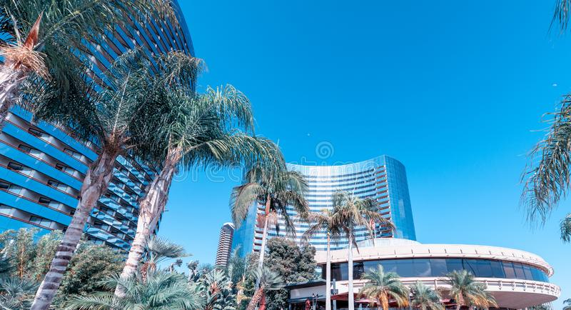 San Diego Marina buildings and skyline on a beautiful summer day stock photography