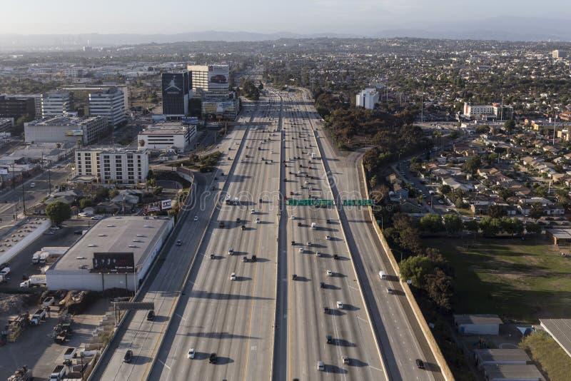 San Diego 405 motorvägantenn royaltyfria bilder