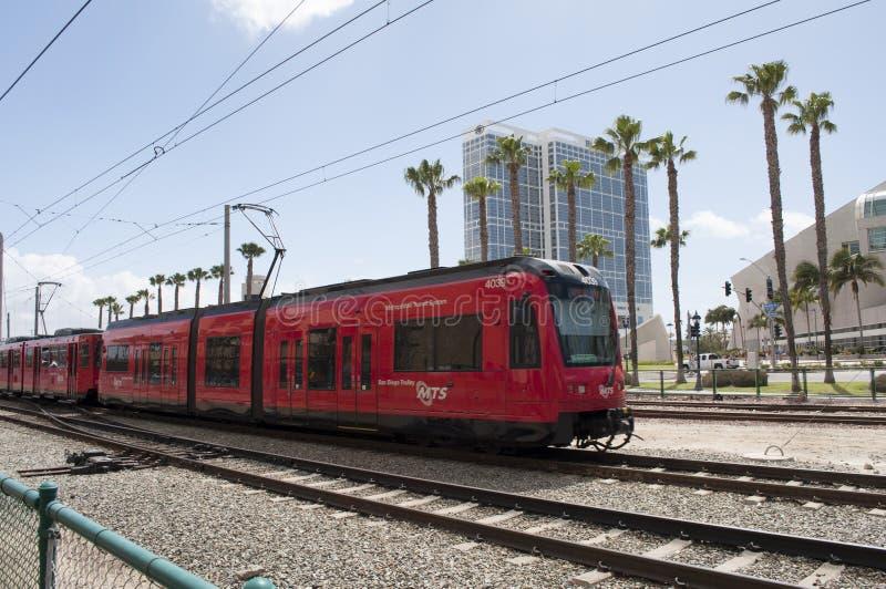 San Diego MTS pociąg obrazy royalty free