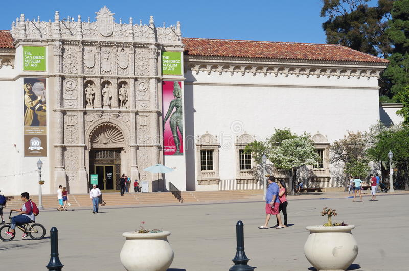 The San Diego Museum of Art. Is a fine arts museum in Balboa Park in San Diego, California with a broad collection of Spanish and Italian paintings. Much of the stock photography