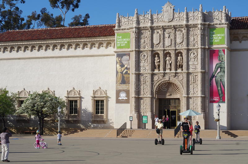 The San Diego Museum of Art. Is a fine arts museum in Balboa Park in San Diego, California with a broad collection of Spanish and Italian paintings. Much of the stock images