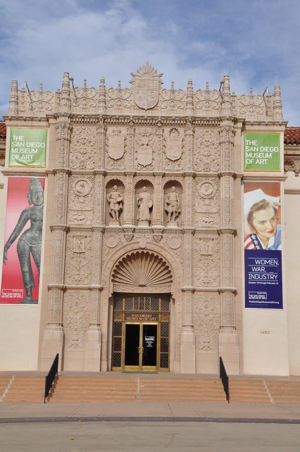 San Diego Museum da arte no parque do balboa em San Diego, Califórnia foto de stock