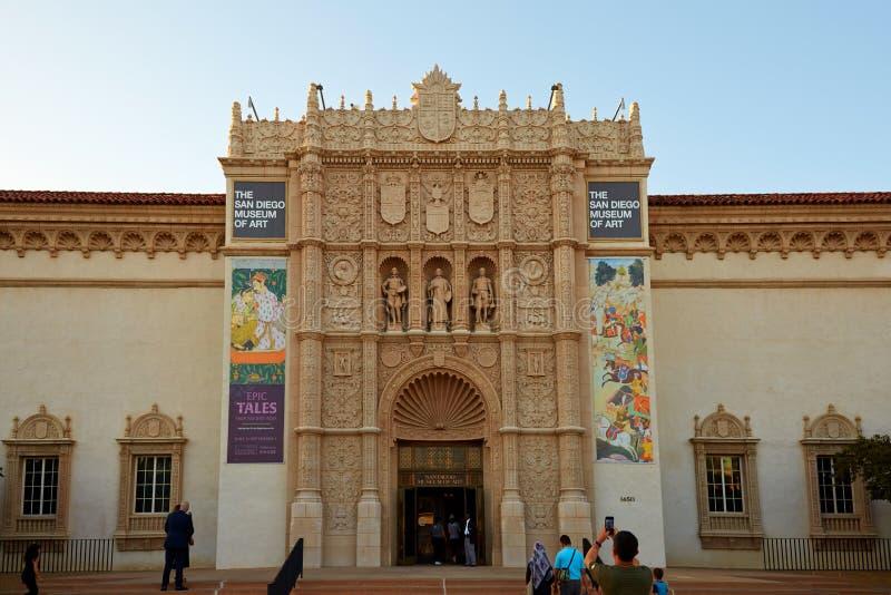 San Diego Museum der Kunst, Balboa-Park lizenzfreies stockfoto